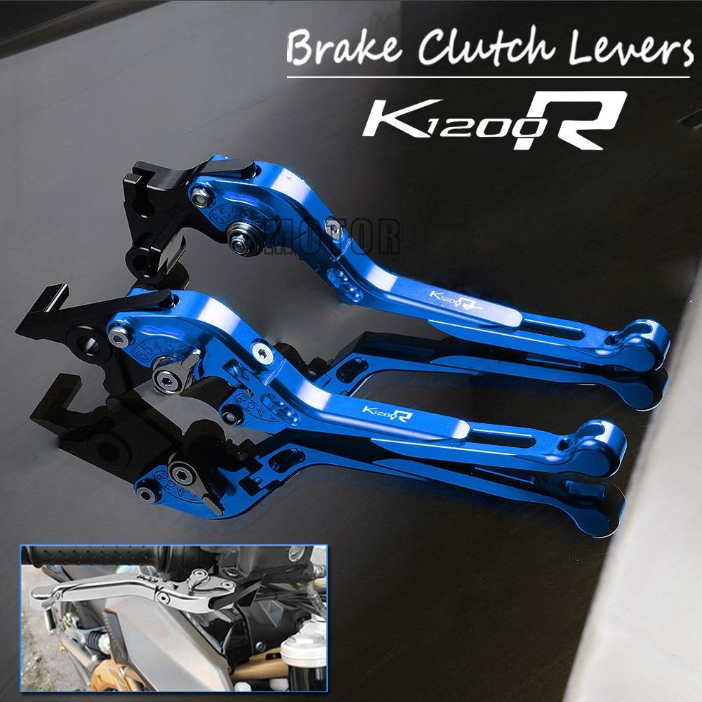 Motorcycle CNC Aluminum Brake Clutch Levers For BMW K1200R 2005 2008 K1200R SPORT 2006 2008 Adjustable