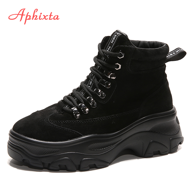 Casual Mens Lace-Up Keep Warm Tooling Shoes Wear Resistant Solid Color  Sneakers RedBrowm Outdoor Rain Footwear