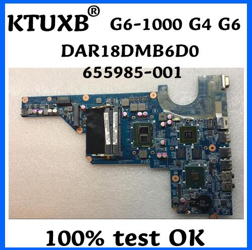 KTUXB 655985 001 for HP G6 1000 654117 001 para HP G4 G6 placa base DAR18DMB6D0