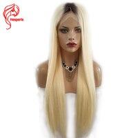Hesperis T1b 613 русый Ombre Синтетические волосы на кружеве человеческих волос парики темные корни бразильский Волосы remy Ombre Синтетические волосы н