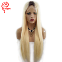 Hesperis T1b 613 Blonde Ombre Lace Front Human Hair Wigs Dark Roots Brazilian Remy Hair Ombre Lace Front Wigs Pre Plucked