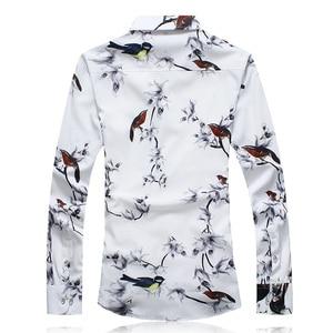 Image 2 - 秋男性カジュアルシャツ 2020 新プラスサイズ長袖シャツ男性ファッションスリムフィットカミーサソーシャルmasculinaブランド服 7XL 6XL
