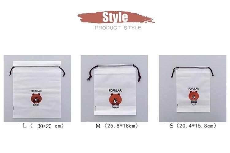 3pcs Bear Transparent Cosmetic Bag Travel Makeup Case Women Make Up Bath Organizer Storage Pouch Toiletry Wash Beaut Kit 15