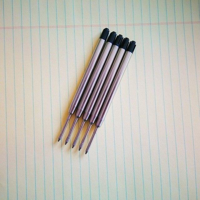 5pcs/lot Ballpoint Pen Refill 0.7MM Blue Black Ink Roller Ball Refills for Writing Office School Supples 3