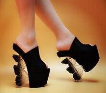 ซูเปอร์รองเท้าแตะรองเท้าส้นสูงช้อปปิ้งออนไลน์2016ฤดูใบไม้ผลิและฤดูร้อนใหม่16เซนติเมตร17เซนติเมตรT-รูปรองเท้าแตะชิ้นรองเท้าผู้หญิงที่มีคุณภาพสูง