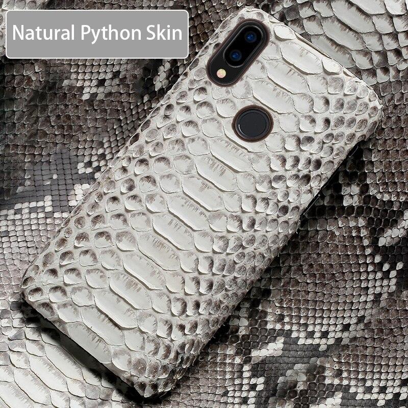 Étui de téléphone pour xiaomi mi 9 8 6 5S Plus Max 3 mi x 2 2S F1 A1 A2 Lite peau de Python naturel haut de gamme personnalisé pour couverture mi Note 5 rouge