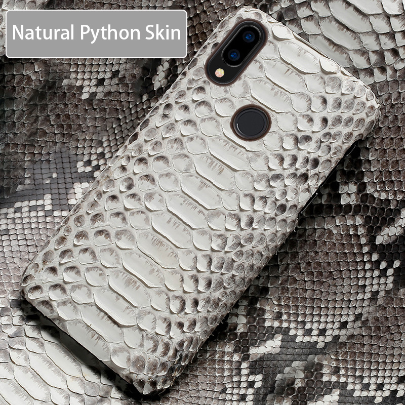 Phone Case For Xiaomi Mi 9 8 6 5S Plus Max 3 Mix 2 2S F1 A1 A2 Lite Natural Python Skin High end Custom For Redmi Note 5 Cover