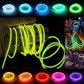 Hot new 4 unids/lote 2 m/3 m/5 m 3 v flexible neon glow light el cable cuerda de Cable de cinta de Tira LED Luces de Neón Zapatos Ropa Del Coche led tira