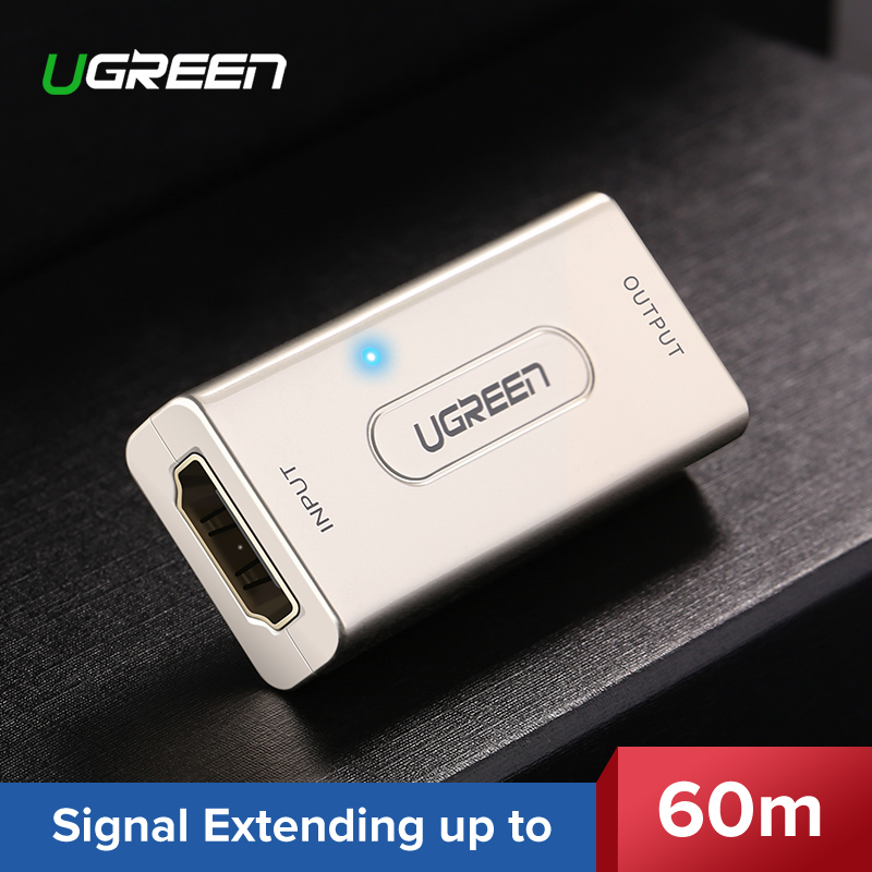 UGREEN HDMI Extender Repeater up to 10m 60m Signal Booster Active 1080P Female to Female HDCP HDMI to HDMI Connector HDMI Cable цена