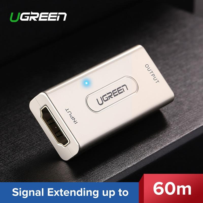 UGREEN HDMI extensor repetidor a 10 m 60 m amplificador de señal activa de 1080 p hembra a hembra compatible con HDCP HDMI a HDMI conector HDMI Cable