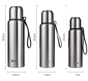 500ml/750ml/1000ml Stainless Steel Water Cup Mug Large Capacity Portable Outdoor Insulation Pot Car Travel Flask Vacuum Bottle