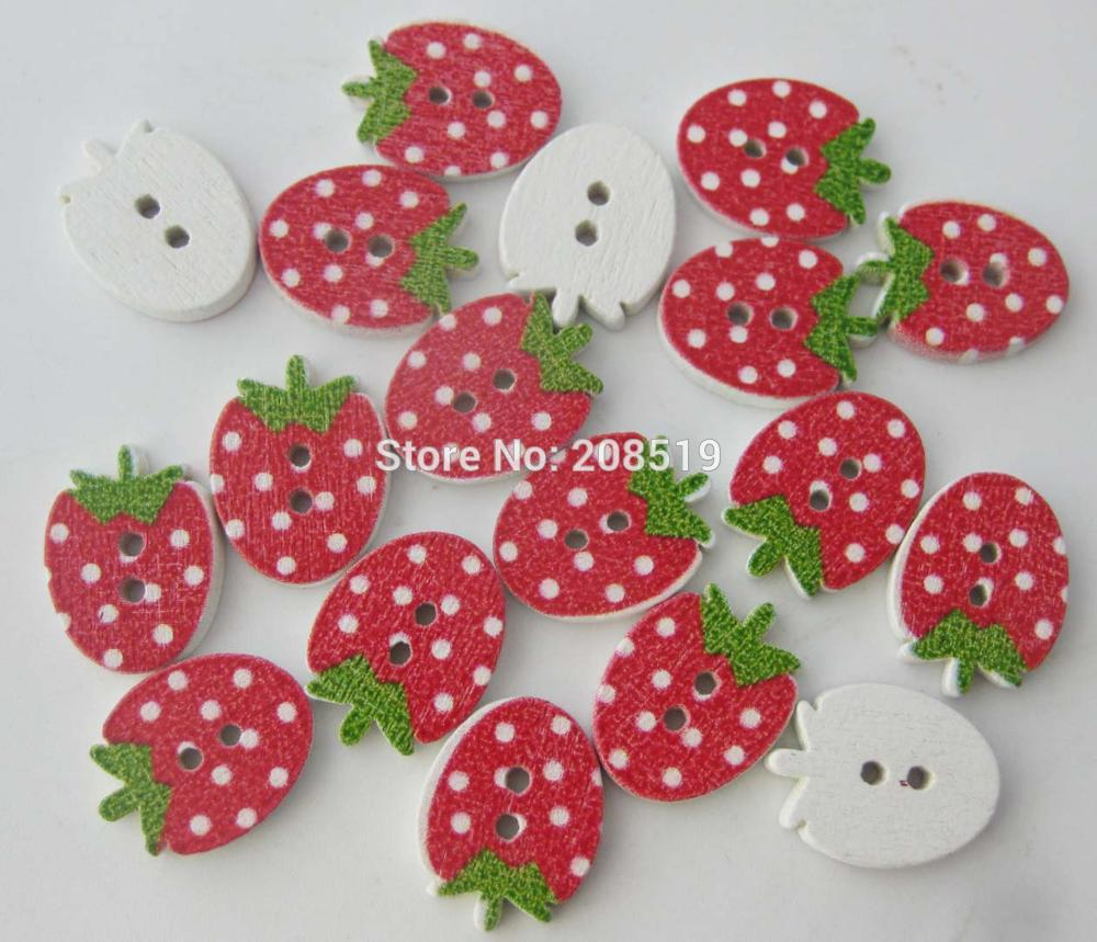 WBNAVS Red buttons strawberry shape fancy children buttons 100 pieces DIY sewing accessories in Buttons from Home Garden