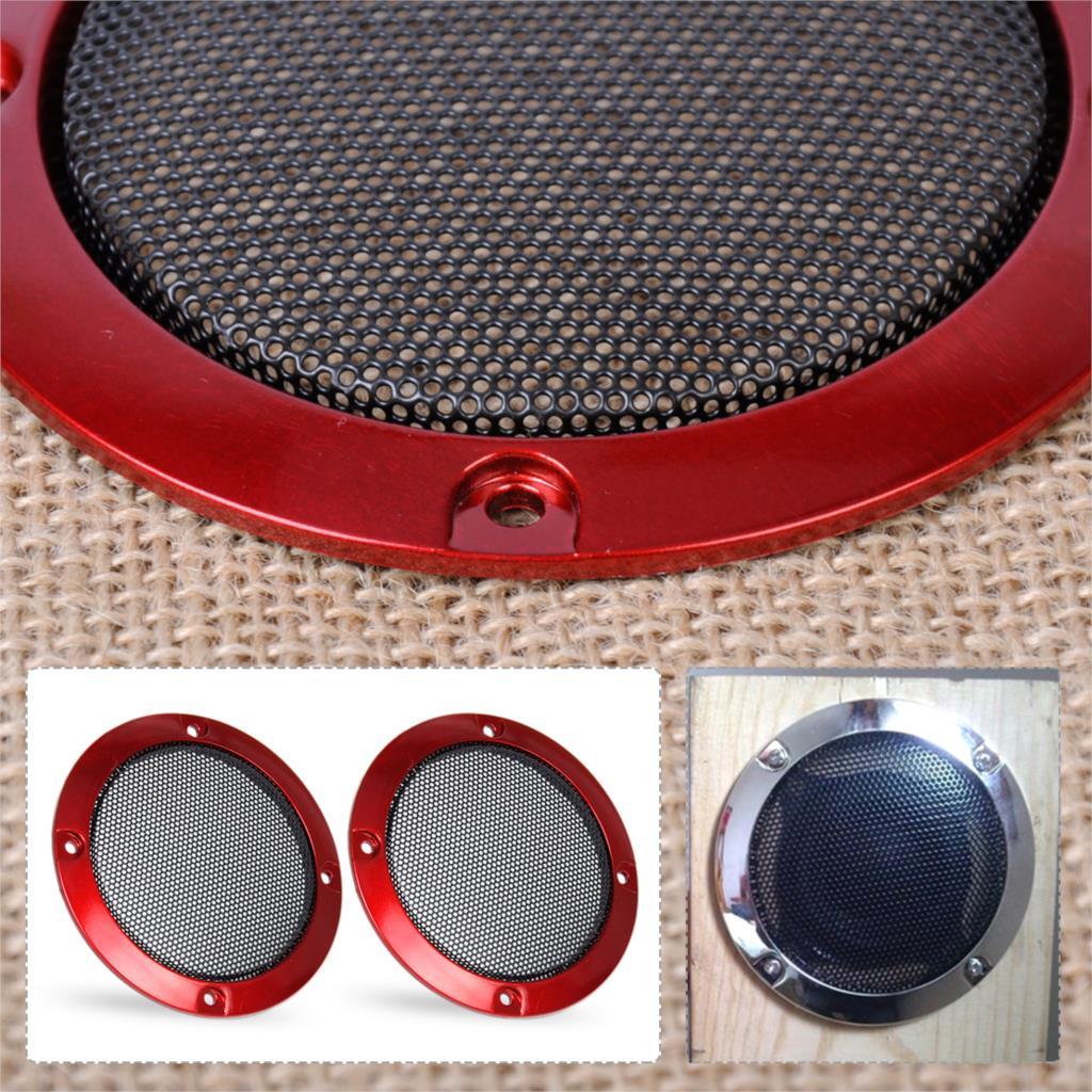 "2pcs 2/""inch Black Speaker decorative circle With protective black iron mesh DIY"