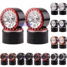 4P Aluminum 2.2 Inch Beadlock Wheel Rim Hub Fit FOR RC Rock Crawler Axial SCX10 RR10 Wraith 90048 90018 TRX4 TRX-4 KM2