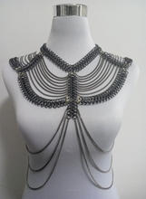 """New Style Fashion Women Silver Plated Chains Unique Harness """"8"""" Chains Shoulders Chains Body Chains Jewelry 3 Colors WRB20"""