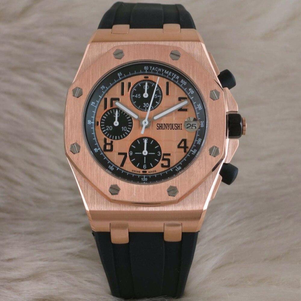 WG04181 мужские часы лучший бренд взлетно посадочной полосы Роскошные европейский дизайн кварцевые наручные часы