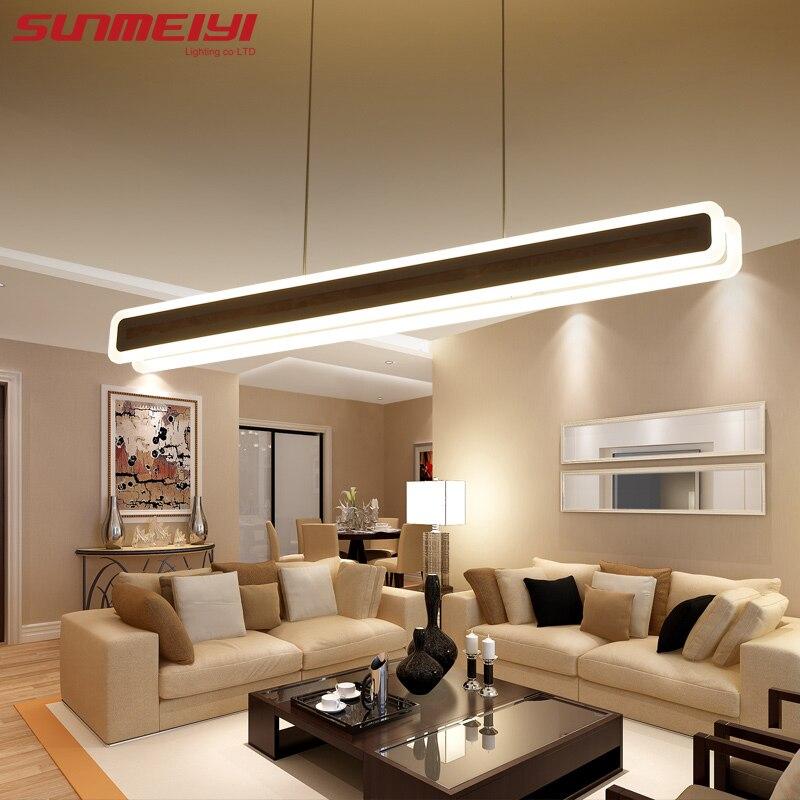 Lampes de pendentif LED modernes luminaires acryliques mode salon chambre Restaurant décoratif salle à manger cuisine pendentif lumières - 5