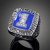 1993 NCAA Basketball Match University Of North Carolina Replica Sports Rings For Men Aneis Vintage Accessories
