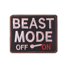 BEAST MODE Tactical Morale Patch Funny & Awesome Military Combat Badge Embroidered Decorative Patch For Jackets Jeans Backpack(China)