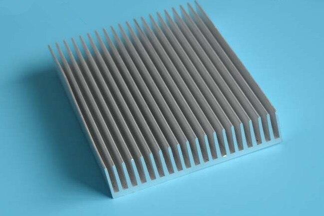 Rapide livraison gratuite densément dent dissipateur de chaleur amplificateur de puissance radiateur 155*40*200mm longueur dissipateur de chaleur refroidissement aileron 6063 aluminium dissipateur de chaleur