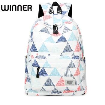 High Quality Waterproof Backpacks Women Geometric Printing Schoolbag Lady Korean Fashion Travel Back Pack for Girls Book Bag