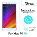 "5pcs Premium 2.5D Tempered Glass For Xiaomi 5s MI5s M5s 5.15"" Screen Protector protective film For xiaomi mi 5s plus 5.7"" Film"