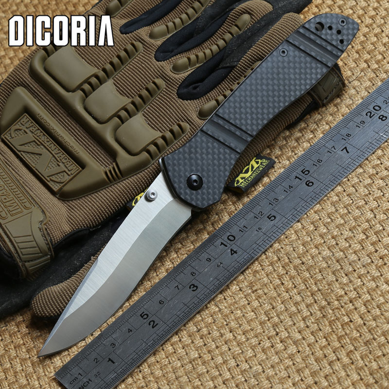 DICORIA 710 S90V blade Tactical folding knife carbon fiber hanlde Copper washer hunting camping outdoor gear Survival EDC Tools edc gear outdoor 6 slot design tool box with blade saw opener bar code sheet s carabiner