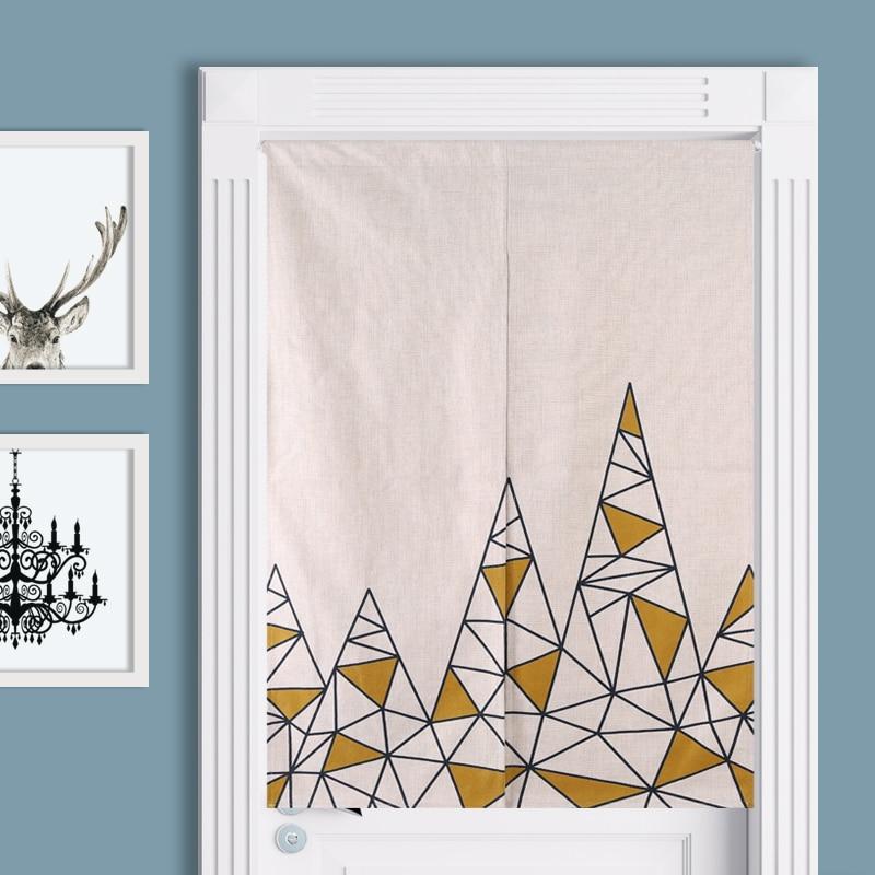 rideaux de style scandinave style geometrique moderne en coton et lin decoratif pour l entree du salon livraison gratuite