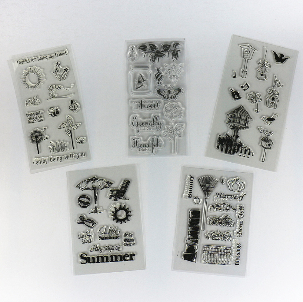 Rubber stamps for crafting - N Clear Stamps For Scrapbooking Transparent Rubber Stamp Holiday Natural Country Beach Life Theme Variety Pattern