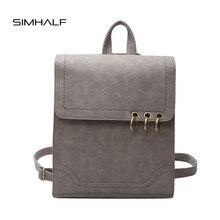 Simhalf Новинка 2017 года модные женские туфли рюкзак высокого качества PU рюкзаки женский корейской версии ретро отдыха и путешествий школьные сумки Mochila