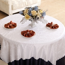 Circle Interlocking Rectangle Small Polyester Jacquard Hotel Tablecloths Wedding Table Round Cloth Mark Place Cover