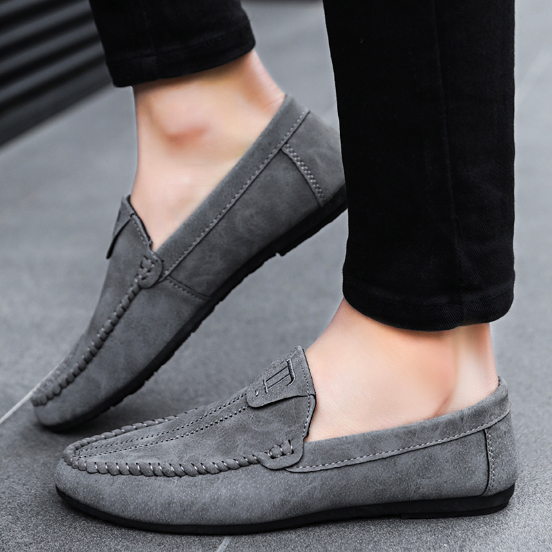 2018 Musim Panas Sepatu Pria Sepatu Kasual Malas Perahu Sepatu PU Kulit  Flats Pria Mewah Slip On Mengemudi Alas Kaki Lembut sepatu Pria di Pria  Sepatu ... e63011102e