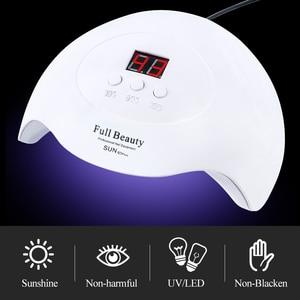 Image 2 - 프로 UV LED 램프 모든 젤 폴란드어 USB 휴대용 램프에 대 한 네일 건조기 햇빛 빠른 드라이 스마트 타이밍 네일 아트 장비 BESUNX7Plus