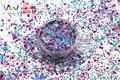 HH21-213  Mix Colors Hexagon  shapes  Glitter for nail art ,nail gel, nail polish makeup and DIY decoration