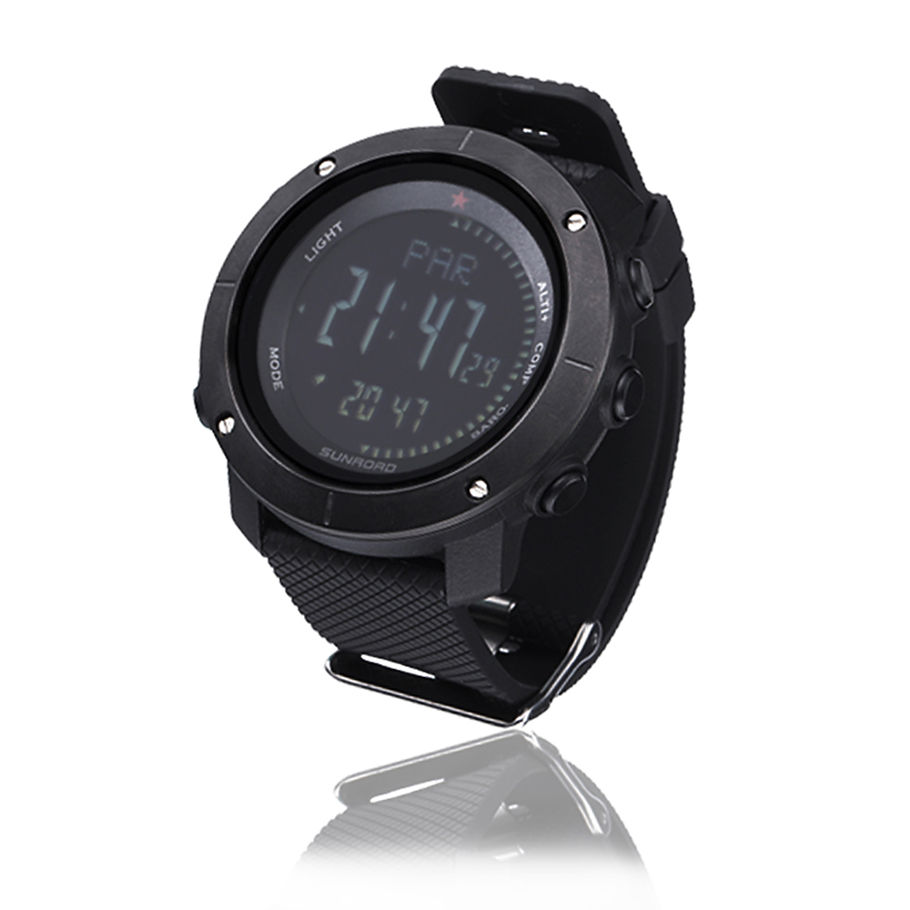 Multifunctional Outdoor Smart Digital Sports Wrist Watch Compass Altimeter Barometer Military Watch 5ATM Water Fitness Equipment in Pedometers from Sports Entertainment
