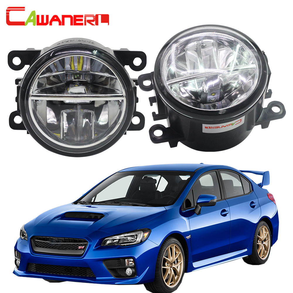 Cawanerl 2 Pieces Car LED Bulb Fog Light Daytime Running Lamp DRL Accessories High Bright For Subaru WRX STI 2015 2016 cawanerl 2 x car led daytime running light drl fog lamp 12v dc car styling high quality for ford ranger 2012 2015