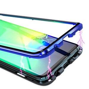 Image 5 - المغناطيسي المعادن 360 الزجاج حقيبة لهاتف سامسونج S10 5G S9 S8 زائد ملاحظة 9 8 A7 A9 2018 A50 A60 A70 A30 A80 2019 كامل الغطاء الواقي