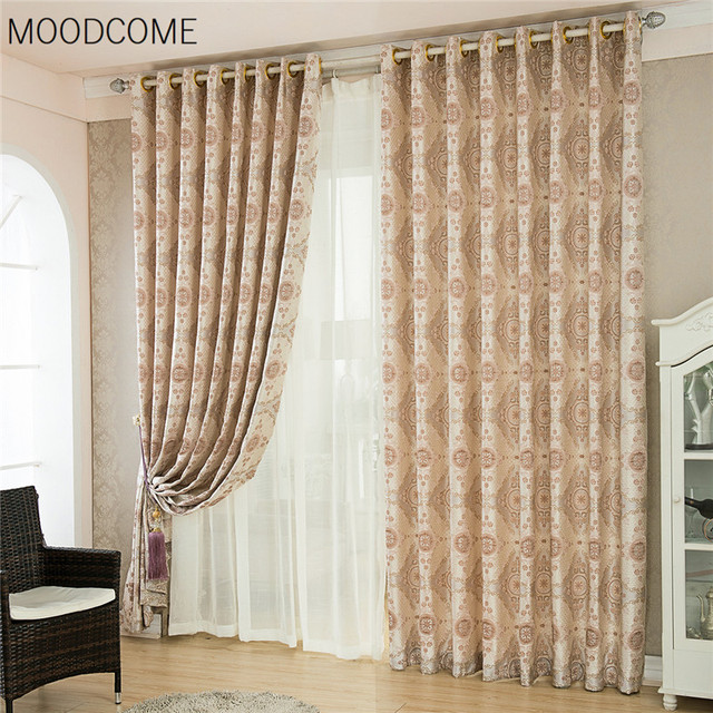 Cortinas para living comedor dormitorio jacquard cortina for Cortinas de tela para living