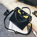 2016 Special Offer Sale Bag Three Totes Simple Little Monster Shoulder Bag Handbag Leisure All-match Personality Clutch Zipper