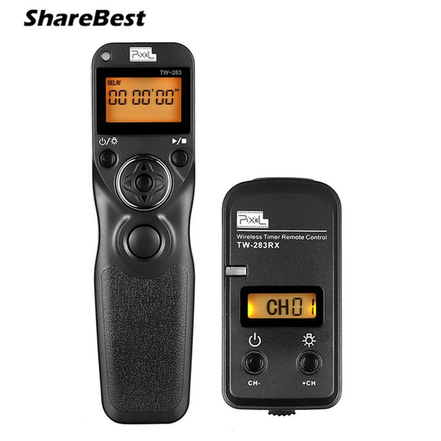 US $25 0 |Pixel TW 283/N3 Wireless Bluetooth Remote Shutter Release Timer  Control For Canon EOS 7D 5D2 6D 50D 40D 30D 1DX 5D Mark III IV-in Shutter