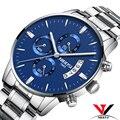 Relogios NIBOSI мужские часы модные брендовые роскошные часы мужские полностью стальные Водонепроницаемые Синие часы мужские спортивные аналого...