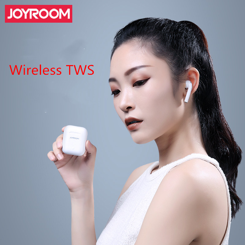 Joyroom Binaural TWS Bluetooth 5.0 casque prise en charge sans fil charge automatique correspondant longue veille pour Android IOS