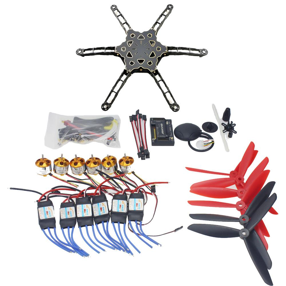 DIY FPV Helicopter Drone GPS APM2.8 Totem Q450 Alien Across Carbon Fiber RC Helicopter Motor ESC F11798-E totem q450 alien across carbon fiber rc quadrocopter diy fpv multi rotor drone kkmulticopter v2 3 with rx