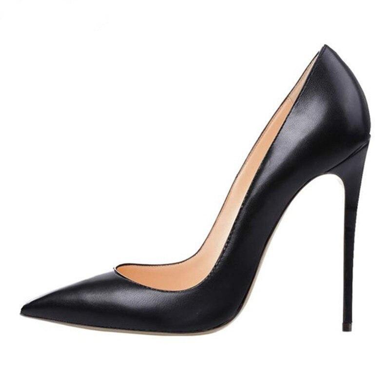 Gorgeous Women Black Dress Pumps Slip-on Shallow Cut High Heel Pointed Toe Stylish Dress Shoes Stiletto Heels Women Shoes basic pump