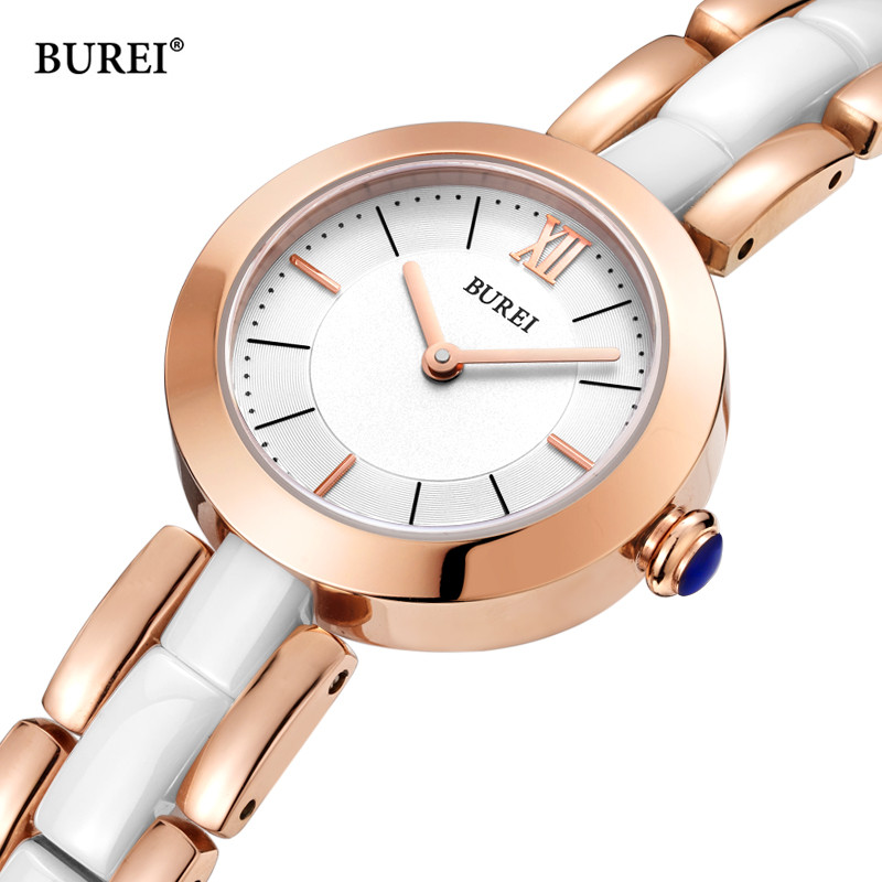 Relogio Feminino BUREI Women Watches Waterproof Fashion Gold Ladies Ceramic Quartz Wrist Watch Clock Woman Saat 2018 Reloj Mujer relogio feminino luxury brand watches 2017 ladies rose gold bracelet quartz wrist watch woman hours clock women saat reloj mujer