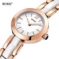 Relogio Feminino BUREI Women Watches Waterproof Fashion Gold Ladies Ceramic Quartz Wrist Watch Clock Woman Saat 2018 Reloj Mujer
