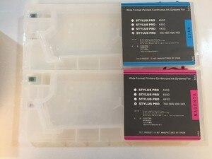 Image 5 - Pusty kartridż na tusz do ponownego napełniania z resetem czip do urządzeń firmy epson Stylus Pro 4000 7600 9600 drukarka 220ML