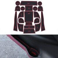 18Pcs Set Car Styling Slot Pad Interior Door Groove Mat Latex Anti Slip Cushion For Volkswagen