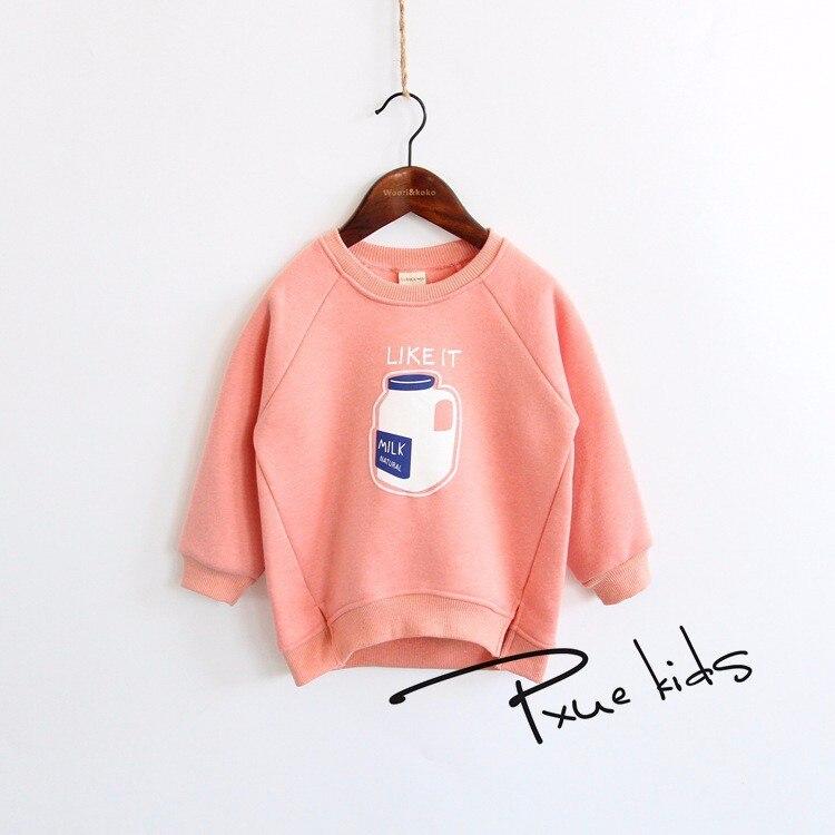 Cartoon 2-7 Boys Girls Kids Coat Hoodie Jacket Sweater podzimní zima Zahustené plus sametové oblečení Dětské mikiny 90-140cm