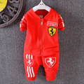2017 New Boys Suits jacket + pants 2pcs letter horse cartoon cardigan zipper baby girl's clothes fashion suit kids free shipping